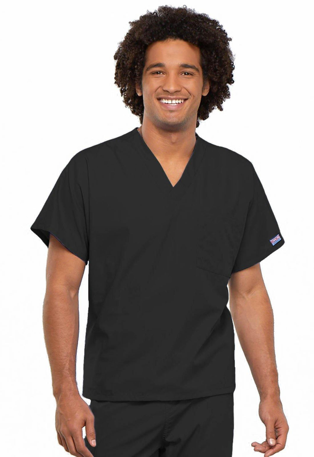 Cherokee WorkWear Originals Unisex V-Neck Tunic in Black - Scrubsnmed