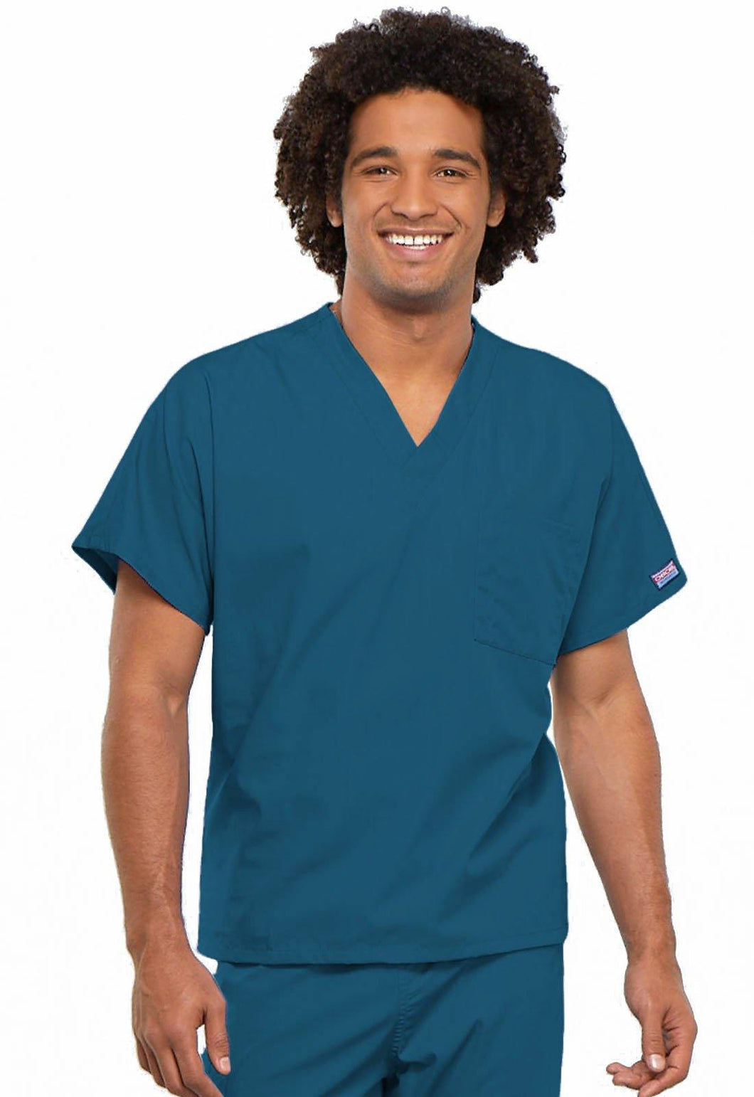 Cherokee WorkWear Originals Unisex V-Neck Tunic in Caribbean - Scrubsnmed