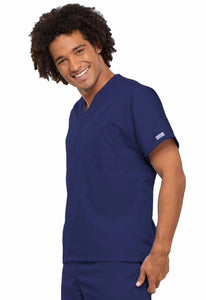 Cherokee WorkWear Originals Unisex V-Neck Tunic in Navy