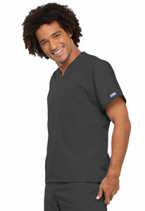 Cherokee WorkWear Originals Unisex V-Neck Tunic in Pewter