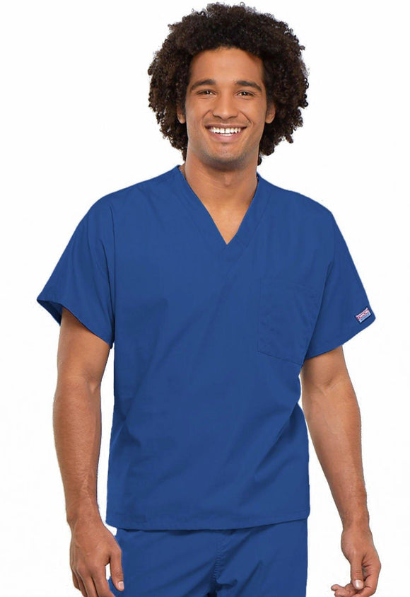 Cherokee WorkWear Originals Unisex V-Neck Tunic in Royal
