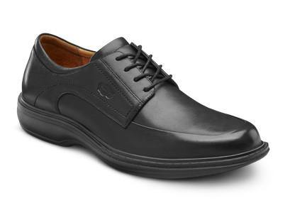 Dr Comfort Men's Classic Dress Shoe Black - Scrubsnmed