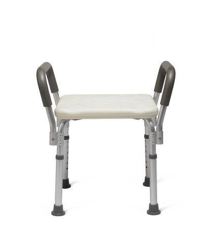 Medline Knockdown Bath Bench with Arms and No Back , Durable Medical Equipment - Medline, Scrubsnmed