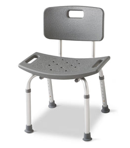 Medline Shower Chair With Back - Scrubsnmed