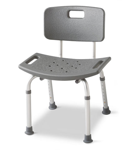 Medline Shower Chair With Back , Shower Chair - Medline, Scrubsnmed