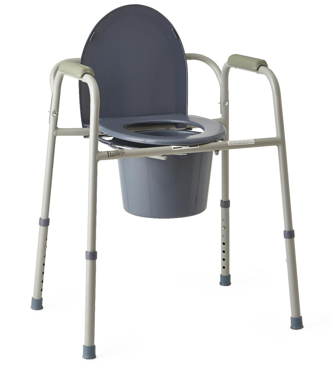 Medline Steel Deluexe 3-in-1 Bedside Commode - Scrubsnmed