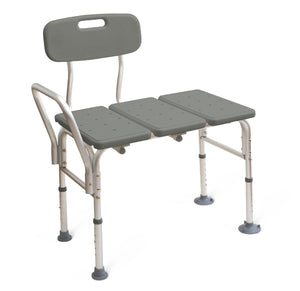 Medline Shower Transfer Bench With Back - Scrubsnmed