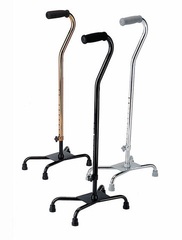 Aluminum Quad Cane Small Base - Scrubsnmed