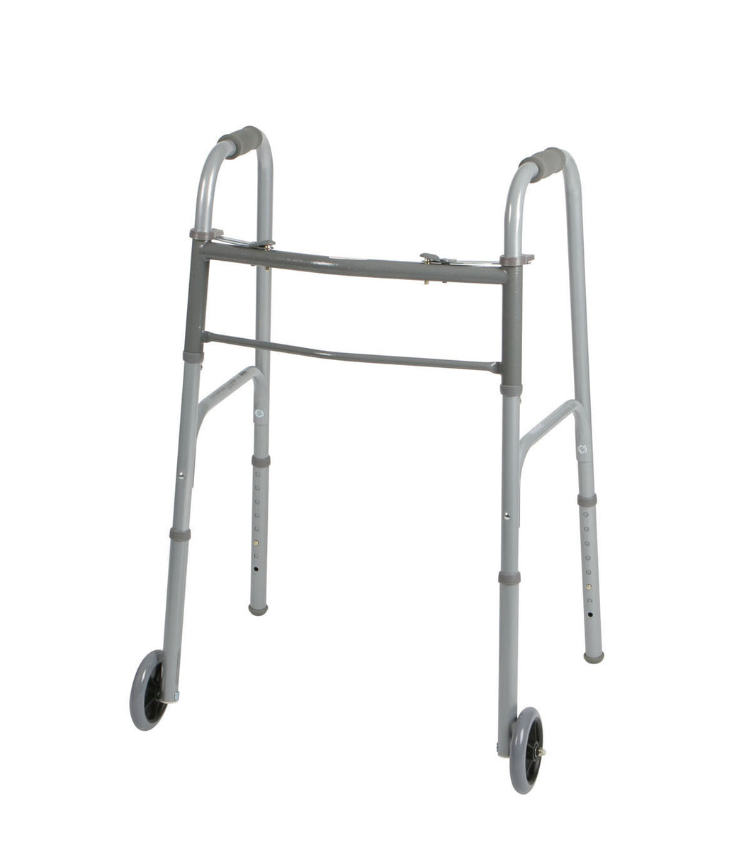 Medline Two-Button Folding Walkers with 5
