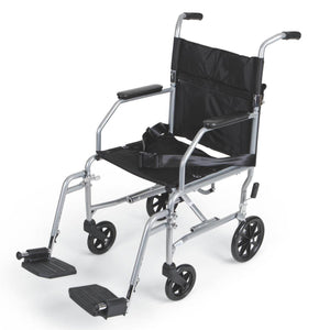 "Basic Steel Transport Wheelchair Chair 19"" - Scrubsnmed"