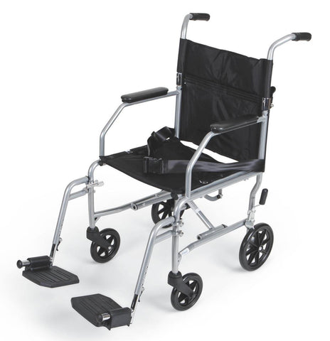 "Basic Steel Transport Wheelchair Chair 19"" , Wheelchairs - Medline, Scrubsnmed"