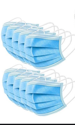 50 Pack - Face Mask 3-Ply