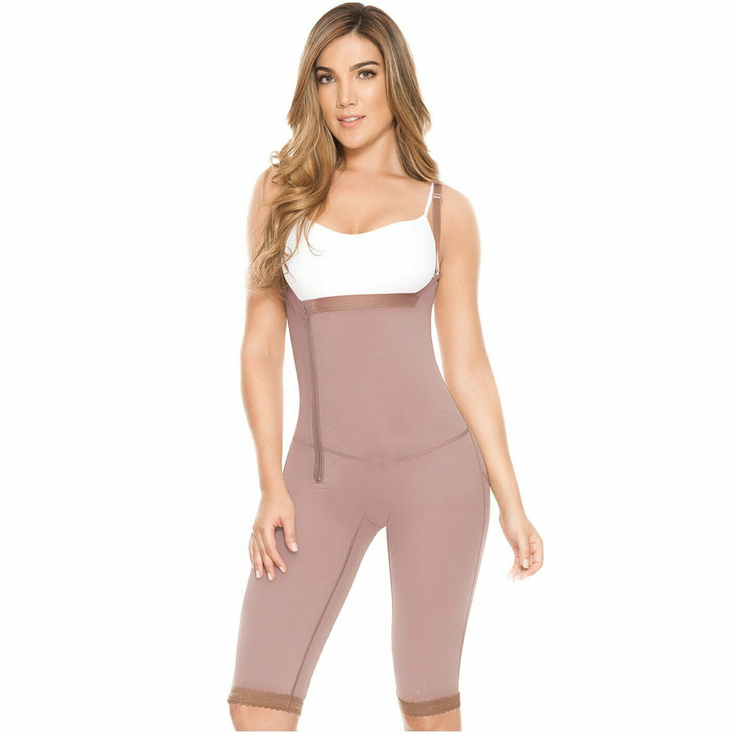 FAJAS DPRADA 11021 | Postsurgical & Tummy Reducing Girdle – 021 - Cocoa - L Size - Scrubsnmed