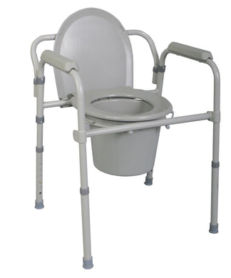Folding Steel Commode - Scrubsnmed