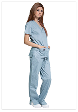 Cross Over With Same Trim - Scrub Set - Scrubsnmed