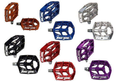 Hope Tech Mountain Bike Platform Freeride/Downhill Pedals - Six Colors