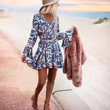 Blue Dress Bohemian Chic