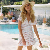 White Dress Bohemian Bianco