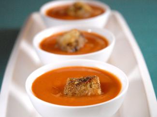 chai spice infused sweet potato bisque
