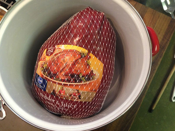 Find a container that fits your turkey