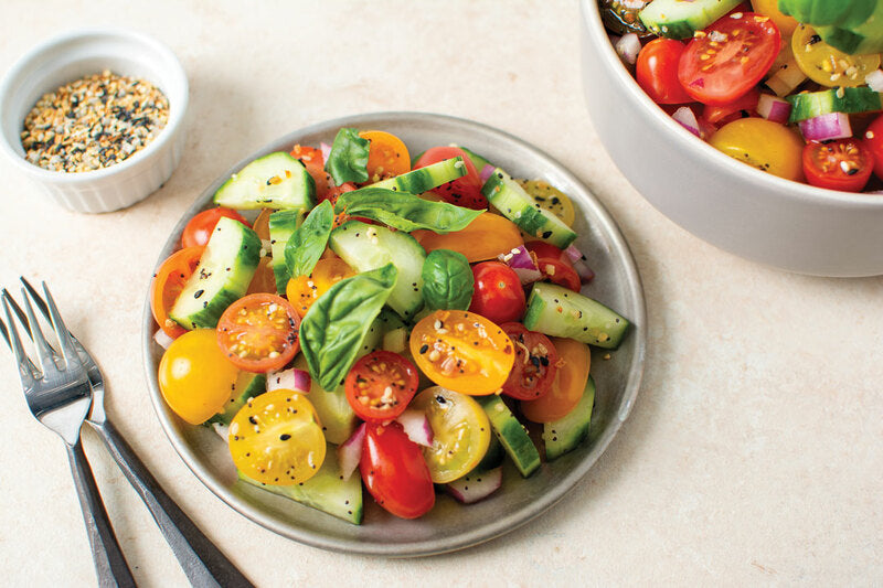 Everything Tomato and Cucumber Salad