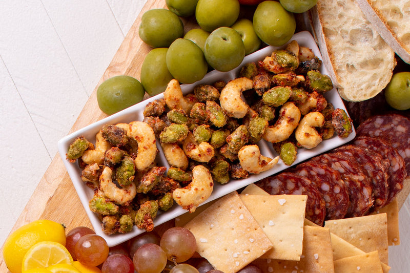 Sweet Chile Cashews and Pistachios