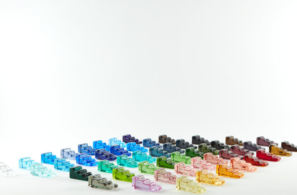 A wide variety of glass colours