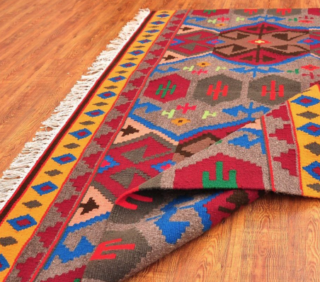 Colorful patterned area rug