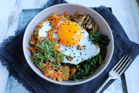 The Cultured Collective - The Wholefood Warrior's Duck Egg Bibimbap
