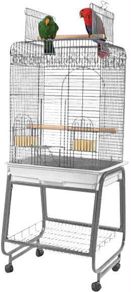 Open Flat Top Cage With Removable Stand