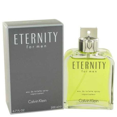 ETERNITY by Calvin Klein Eau De Toilette Spray 6.7 oz (Men)
