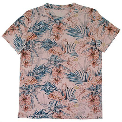 Men's Bird Pattern Parrot Flamingo Print T-Shirt