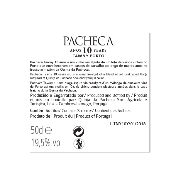 Pacheca Port 10 Years Tawny 50cl - Quinta da Pacheca - Douro Valley