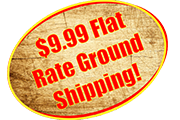9.99 flat rate ground shipping for homepage