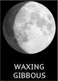 waxing gibbous moon