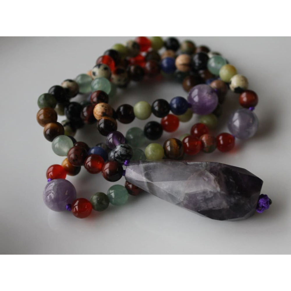108 Bead Chakra MALA / Yoga Jewelry / Meditation Prayer Beads - Necklaces