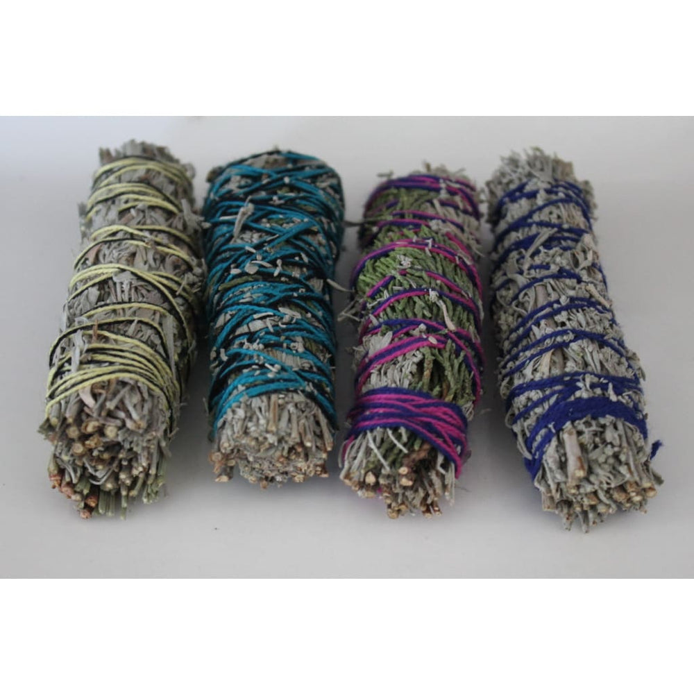 4 Sage Blends / 4 Pack Smudge Wands / Cleansing and Clearing the Home of Negativity Spiritual Cleansing - Energy Tools