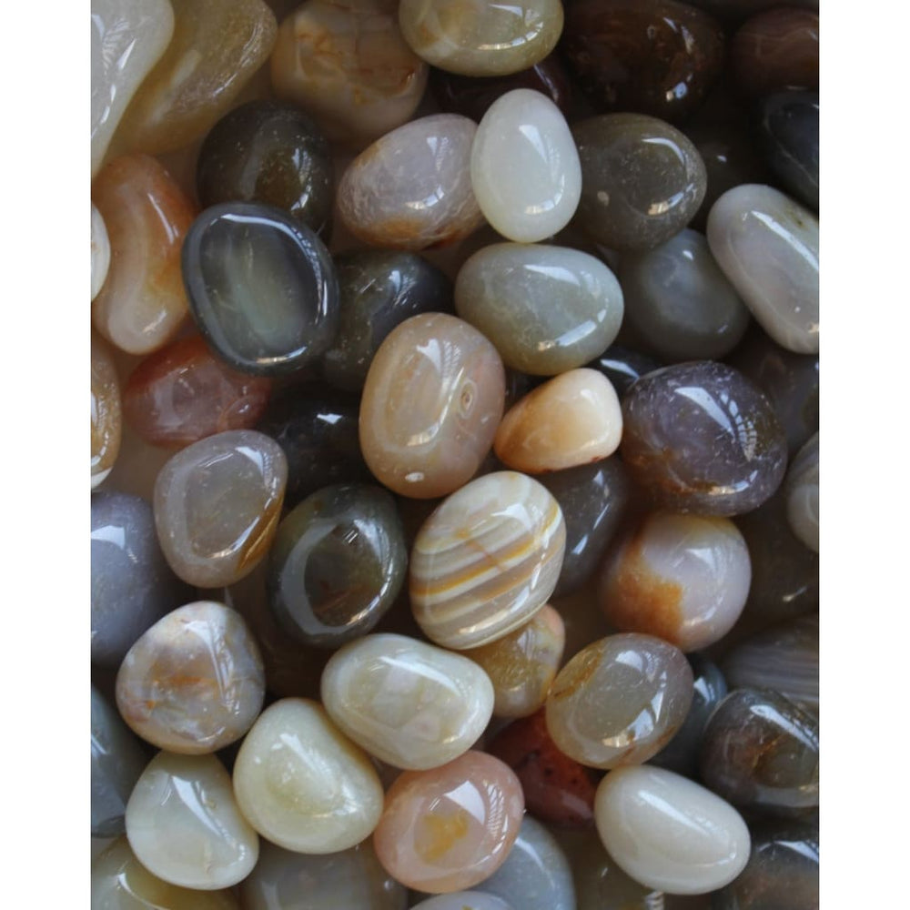 AGATE Tumbled Stones / Protection / Grounding / GEMINI / TAURUS - Polished Stones
