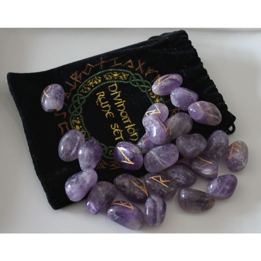 Amethyst Divination Runes - Energy Tools
