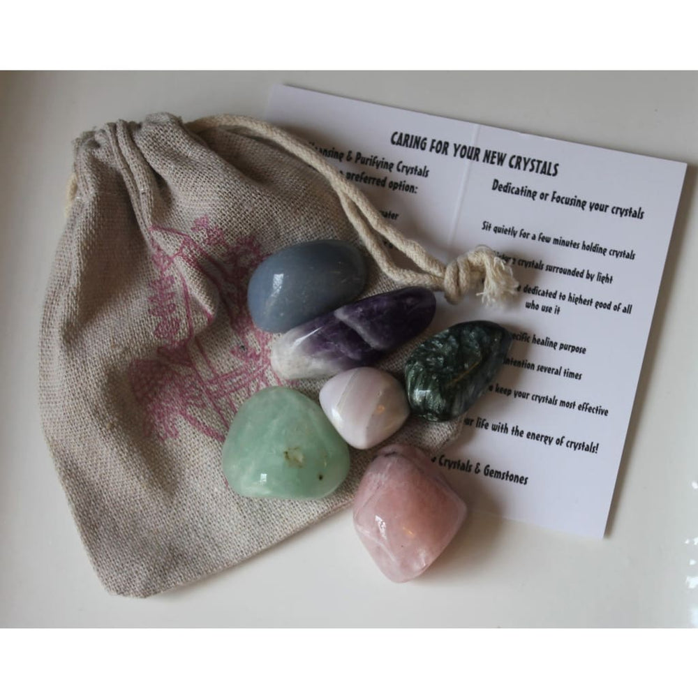 Angel Crystals and Stones Angel Gift Spiritual Guidance Raise your Vibration Meditation Stones - Crystal Healing Kits