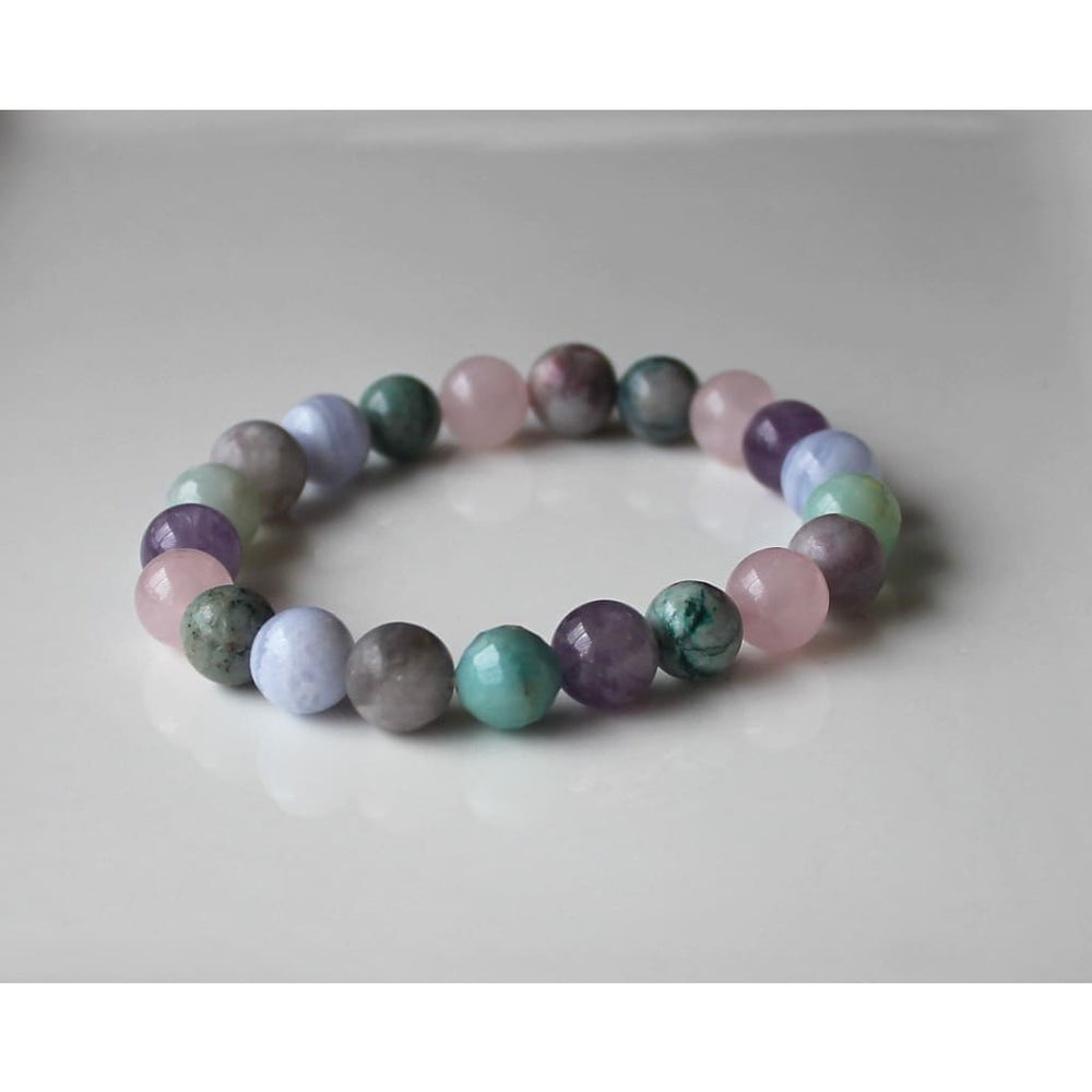 ANXIETY RELIEF BRACELET / Stress Relief / Dispel negative energy / Serenity Peace Balance / 10MM Gemstone Beads - Bracelets