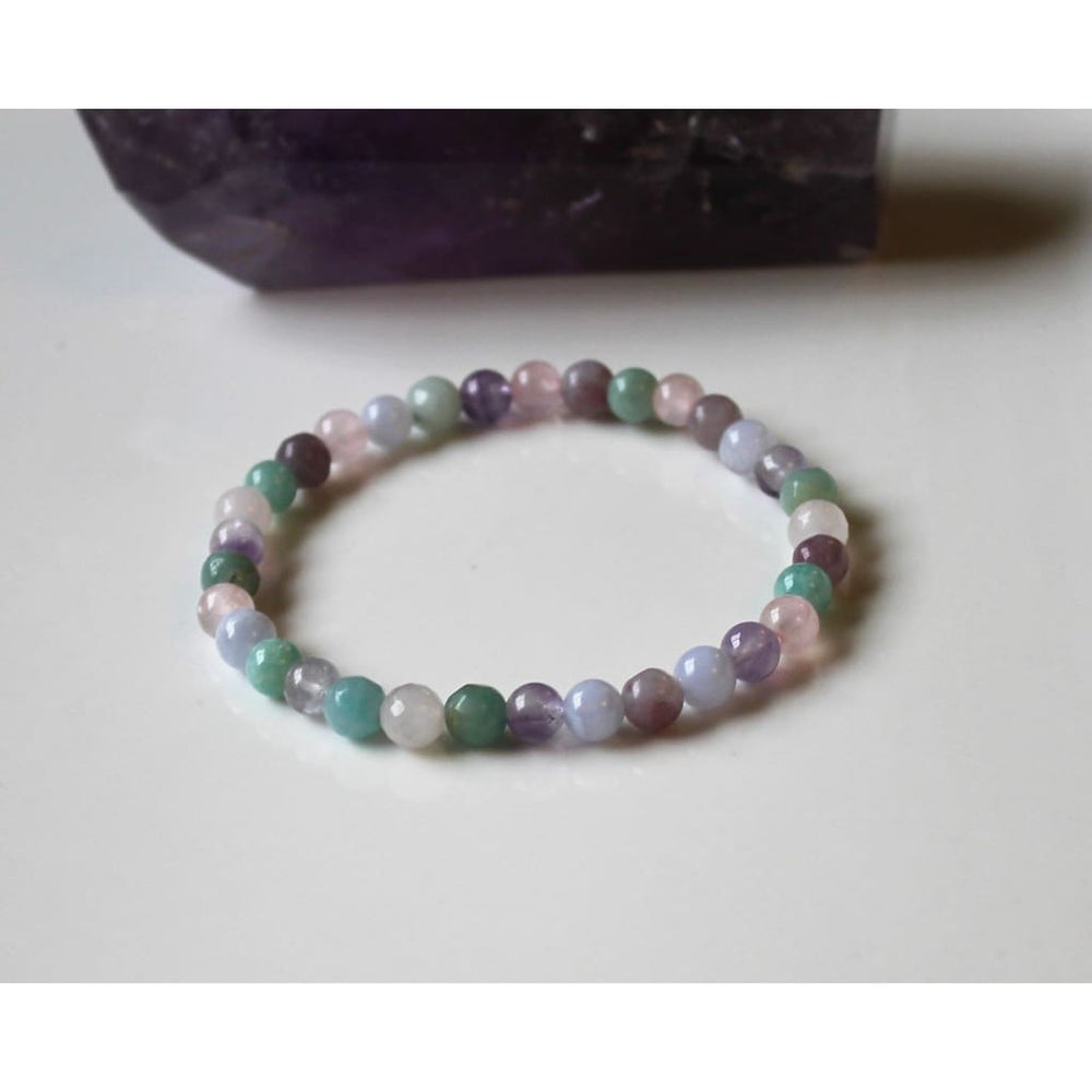 ANXIETY RELIEF BRACELET / Stress Relief / Dispel negative energy / Serenity Peace Balance / 6MM Gemstone Beads - Bracelets