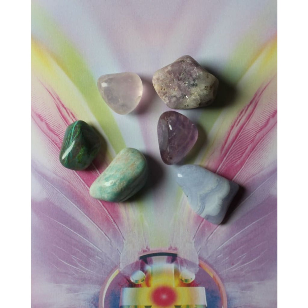 ANXIETY RELIEF Healing Crystal Kit / Stress Relief / Dispel negative energy / Serenity Peace Balance - Crystal Healing Kits