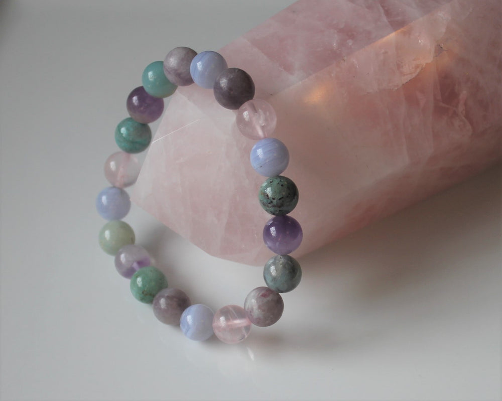 Anxiety Relief Healing Crystal Bracelet, Stress Relief, Choose Your Size