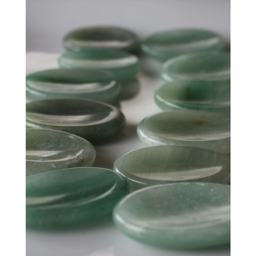 Aventurine Worry Stone / luck and Prosperity / Gamblers lucky talisman / Heart Healer / Heart chakra - Energy Tools