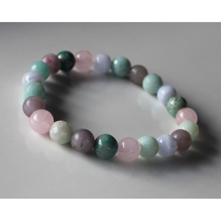 Calming Bracelet Stress Relief Jewelry Dispel negative energy Anxiety Relief Bracelet 8MM Gemstone Beads - Bracelets