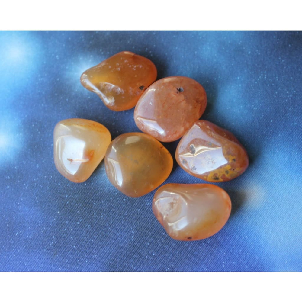 Carnelian Stones / Stone of Action / Confidence and Courage / Accelerate motivation / Creativity / Fertility / Base Sacral Chakra - Polished