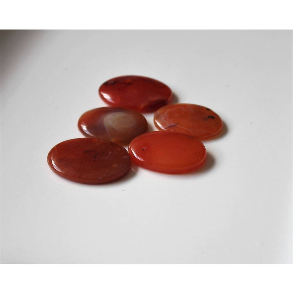 Carnelian Worry Stone Pocket Tranquilizer Sacral Chakra Crystal - Energy Tools