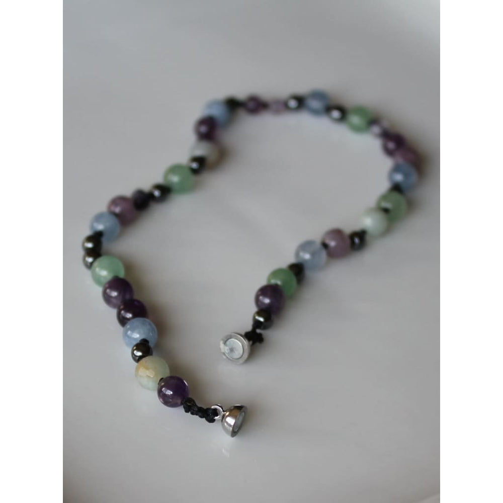 CHILDRENS ADHD ADD Necklace / Healing Crystal Jewelry / Individually knotted - Necklaces