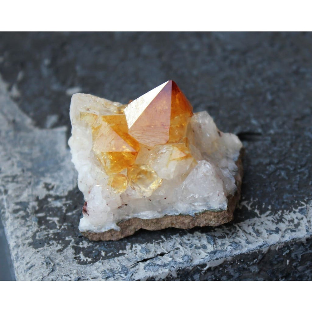 Citrine Cluster / Prosperity / Abundance Crystal / Joy and Happiness crystal - Natural Crystals